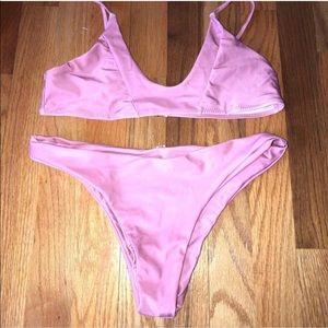 Other - Blushing Lilac colored cheeky bikini swim suit